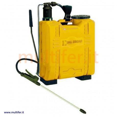 Pompa irroratrice a spalla Dal Degan lt. 12 - 16 - 20 con pompante ottone o plastica (per diserbante e trattamenti vari.)