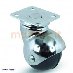Ruote sferiche per mobili ed espositori con supporto cromato (ruota sferica per mobili)