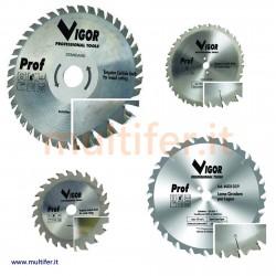 Lame a disco circolari per legno a dentatura widia con misure e diametri vari.