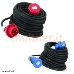 Prolunghe elettriche norme CEE 220/380 volt IP67 con cavo in neoprene mt.20/30 (prolunga elettrica)
