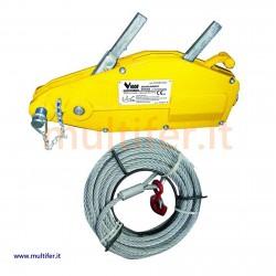 Paranco - argano - manuale Vigor 800/1600/3200 kg. + 20 mt. di fune.