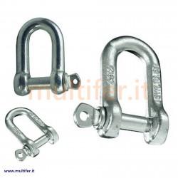 Grilli in acciaio zincato o inox per funi - corde ecc. (grillo)