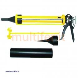 Pistola fugatrice per stuccare - fugare malta - sfuso - 2 beccucci - tipo silicone