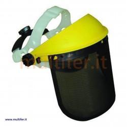 Visiera - Maschera per decespugliatore (Tagliabordi) con schermo a rete in alluminio