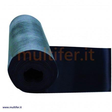 Lastra in gomma millerighe con spessore 3 mm. Altezza 130 cm. - pavimento in gomma