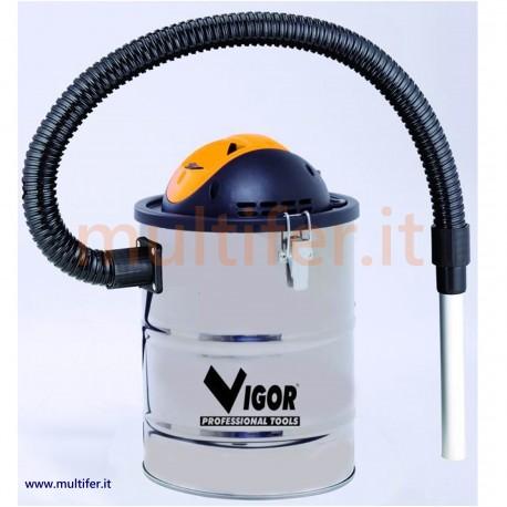Bidone aspiracenere 800 watt Vigor Aspir EL inox