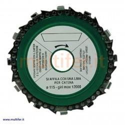 Disco taglio legno per smerigliatrice 115 mm. (con catena motosega)