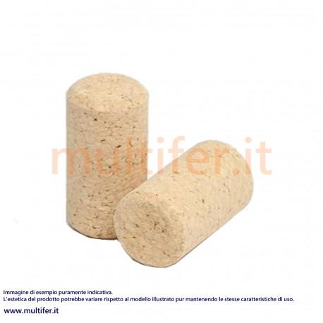 Tappi - tappo in sughero agglomerato 24 x 38 mm. (100 pz.)