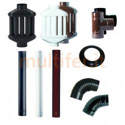 Tubi stufa e diffusori di calore Smalbo - diversi colori e diametri