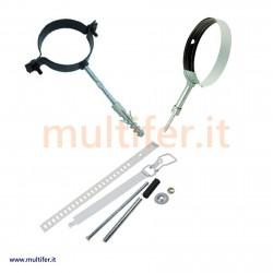 Collari fissaggio tubi stufa disponibili in diverse tipologie e colori - collare fissatubo