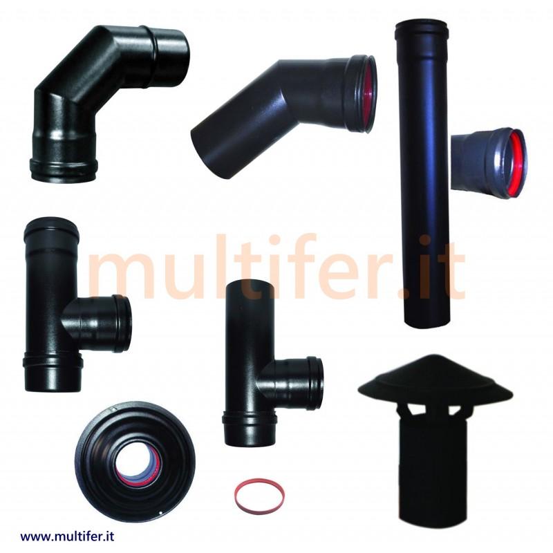 Tubi per stufe a pellet e accessori diametro 8 e 10 cm tubo per fumi smalbo italy - Tubi scarico fumi stufe a pellet ...