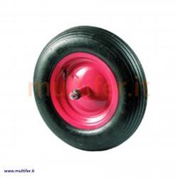 Ruota per carriola in gomma piena antiforatura - perno cm. 17 oppre 21