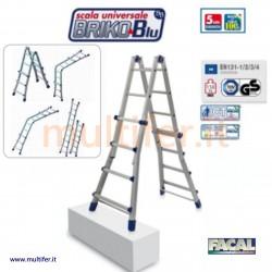 Scala alluminio multiposizione Facal Briko blu - da 4 a 5,16 mt.