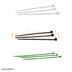 Fascette in plastica (nylon) per cablaggi - diverse misure e colori