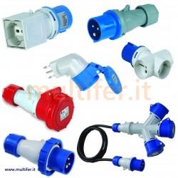Prese - spine elettriche - adattatori industriali norme CEE