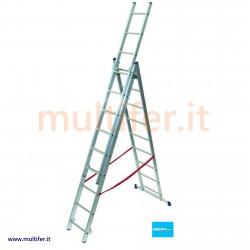 Scala a sfilo Facal 3 rampe in alluminio made in italy - misure varie