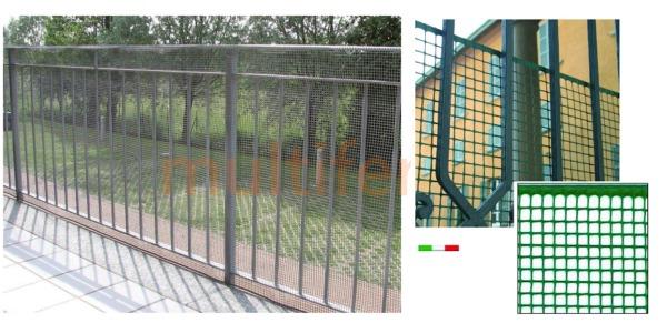 Rete Plastica Per Recinzioni Prezzi.Rete Plastica Per Balconi E Recinzioni Altezza 100 Cm In Rotoli